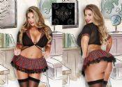 Baci Lingerie [ UK 8 - 14 ] 'Saucy Schoolgirl' Red Tartan Fancy Dress Outfit ...